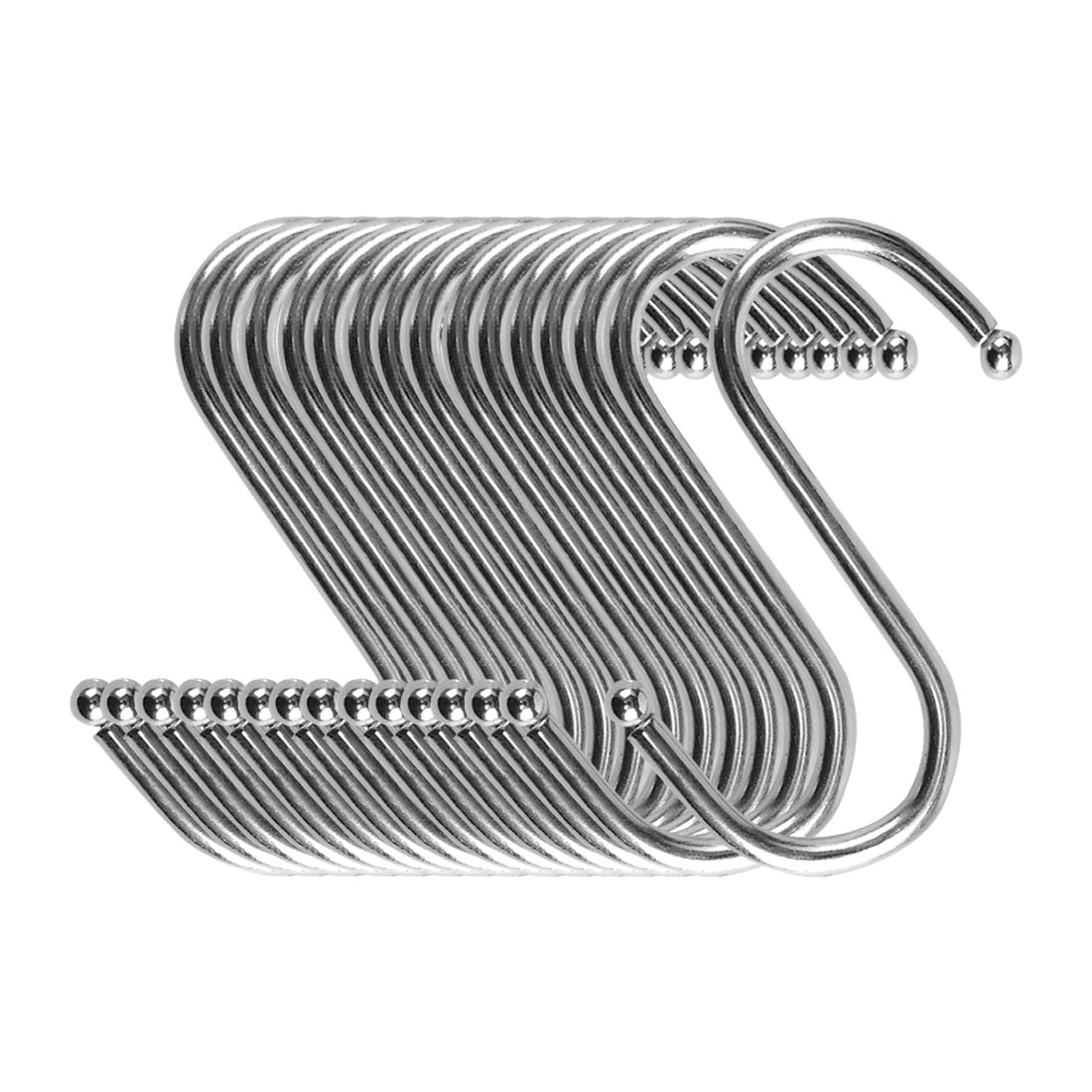 S Shape Hook Rack Stainless Steel for Kitchenware Clothes Towels Holder 15 Pack