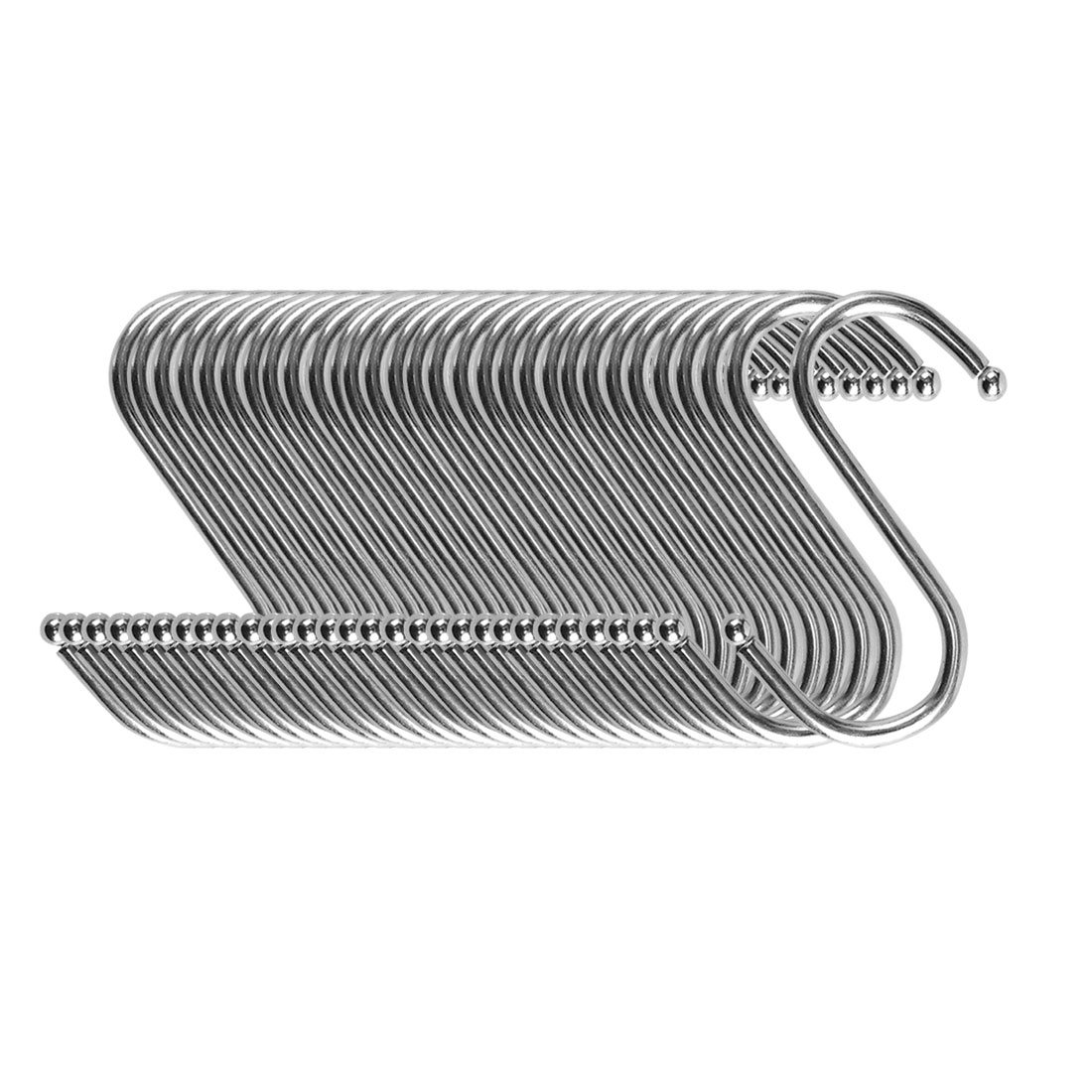 S Shape Hook Rack Stainless Steel for Kitchenware Clothes Towels Holder 30 Pack