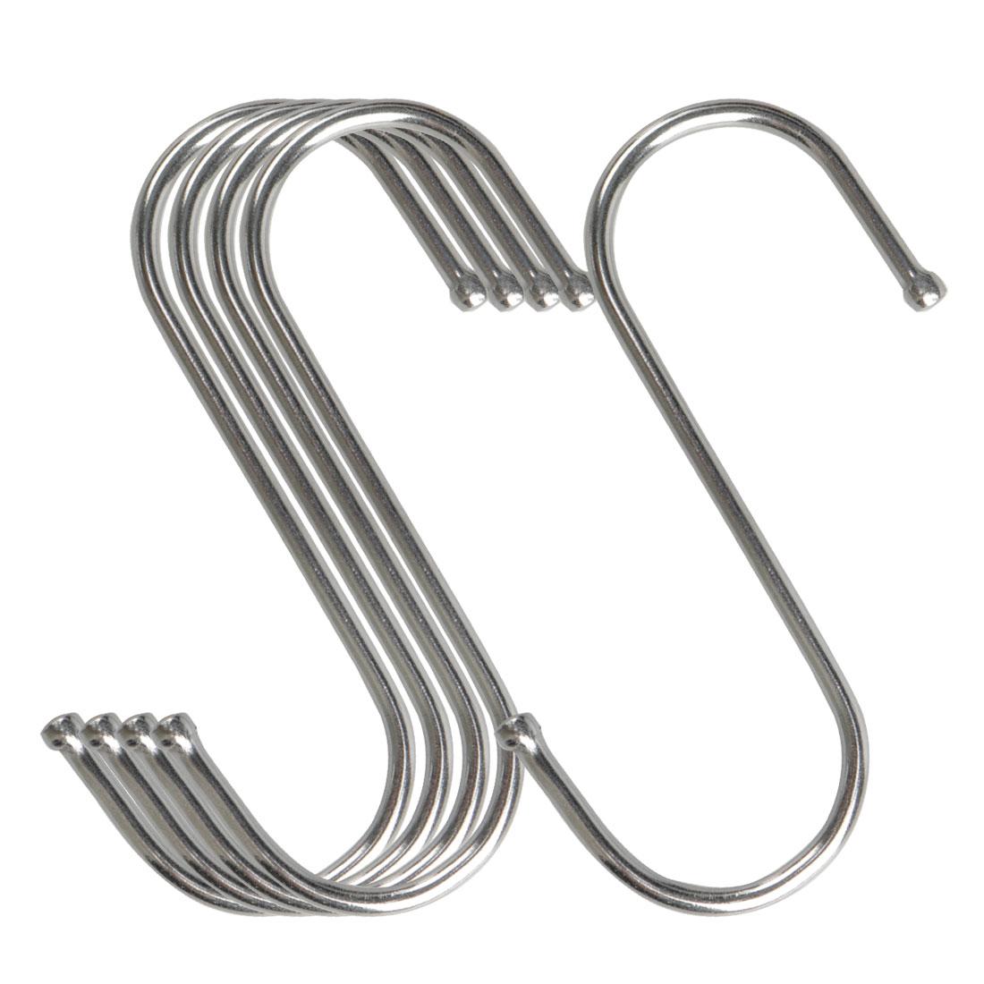 5pcs S Shaped Hook Stainless Steel for Kitchenware Pot Utensil Holder
