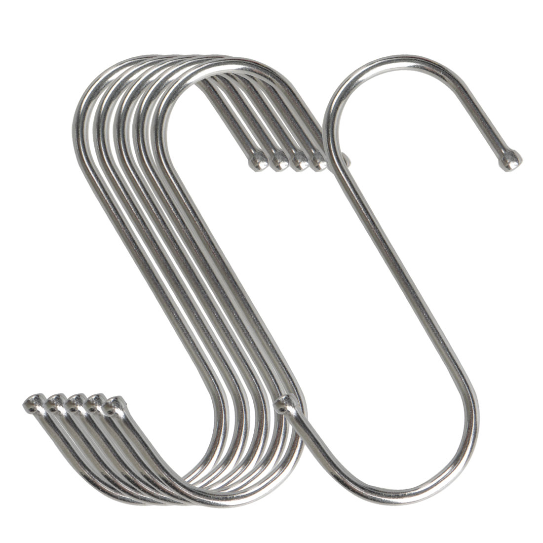 6pcs S Shaped Hook Stainless Steel for Kitchenware Pot Utensil Holder