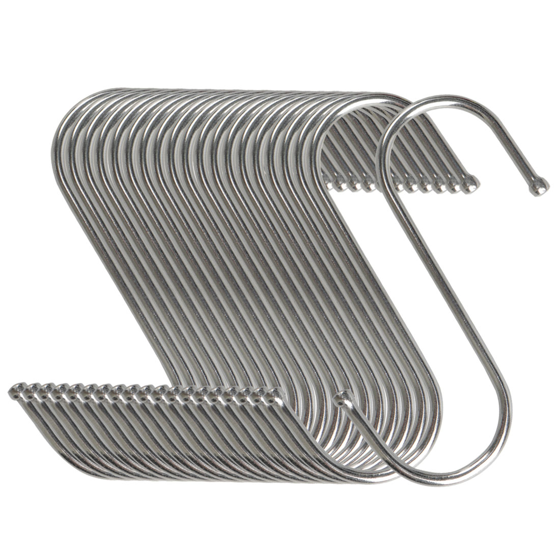 20pcs S Shaped Hook Stainless Steel for Kitchenware Pot Utensil Holder