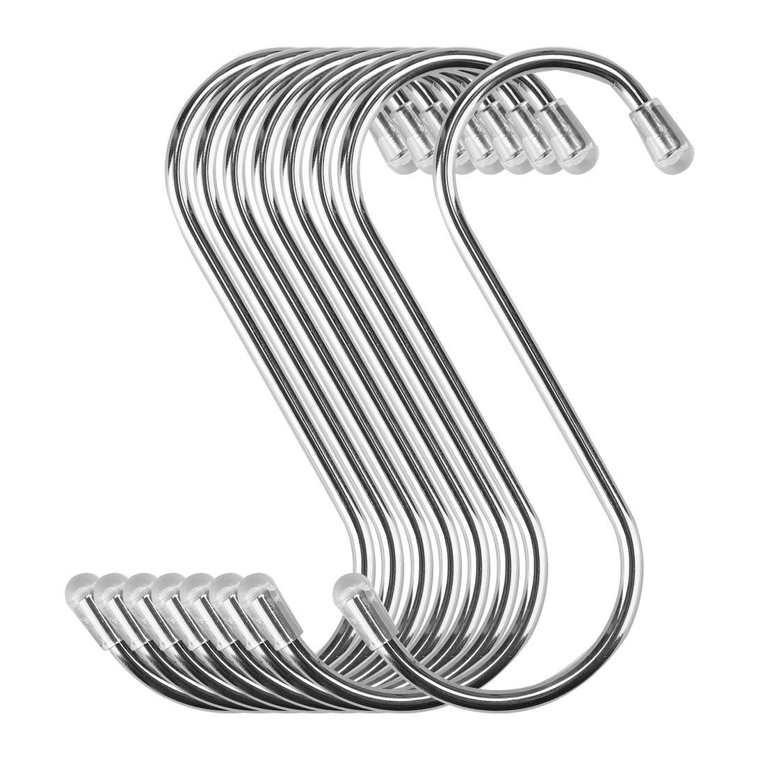 8pcs 2.56 Inch S Shaped Hook Stainless Steel for Kitchenware Hat Coat Holder