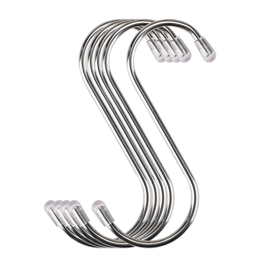 5pcs 3.46 Inch S Shaped Hook Stainless Steel for Kitchenware Hat Coat Holder