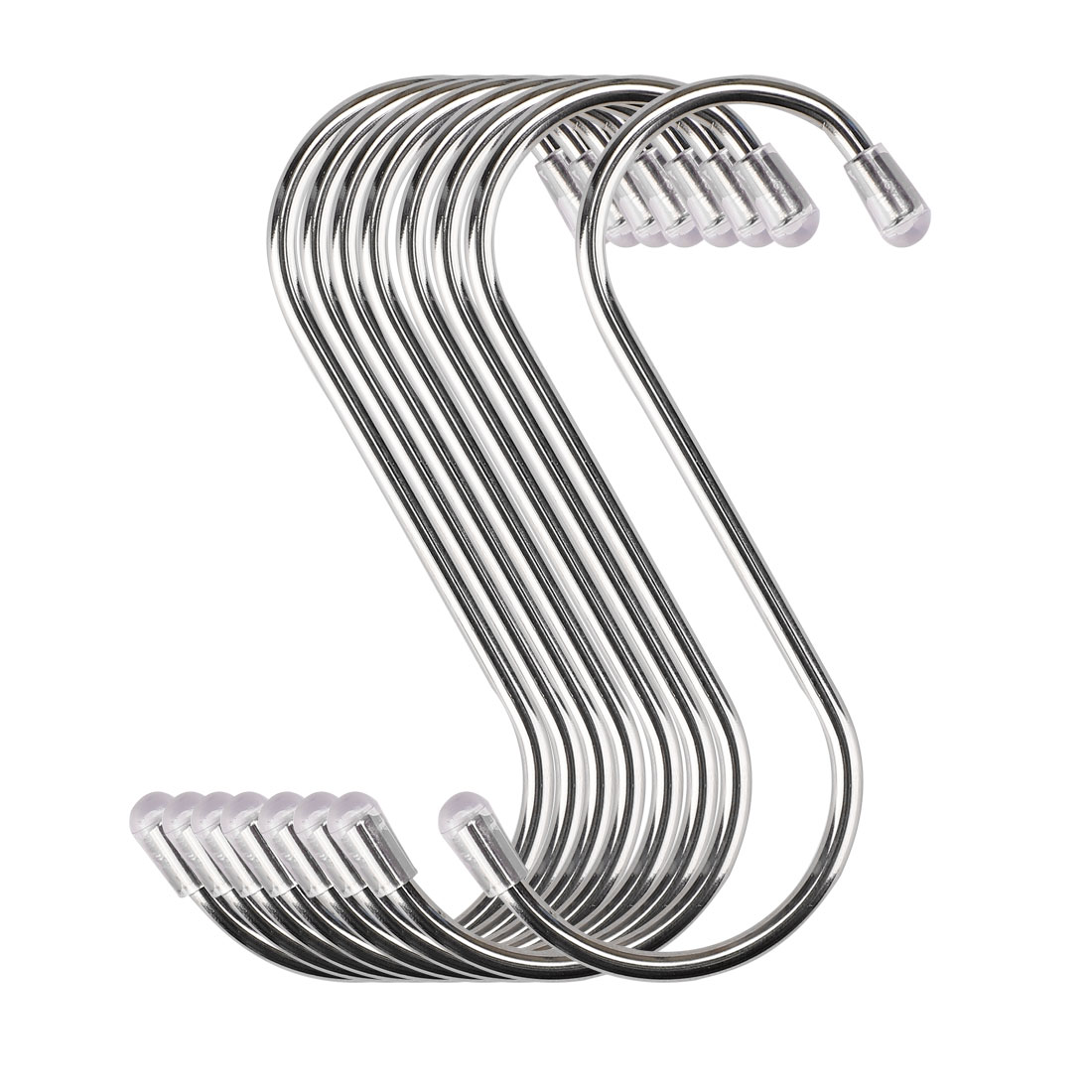 8pcs 3.46 Inch S Shaped Hook Stainless Steel for Kitchenware Hat Coat Holder