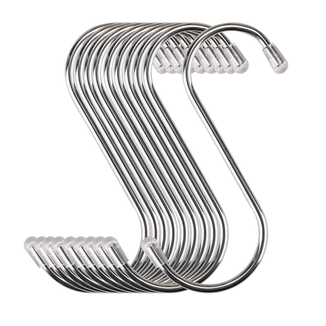 10pcs 3.46 Inch S Shaped Hook Stainless Steel for Kitchenware Hat Coat Holder