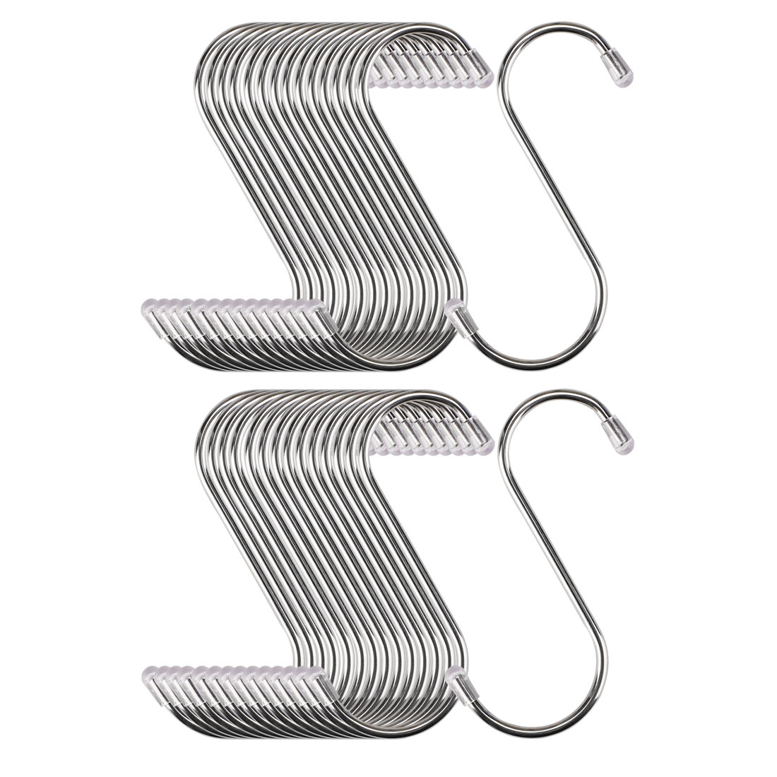 30pcs 3.46 Inch S Shaped Hook Stainless Steel for Kitchenware Hat Coat Holder