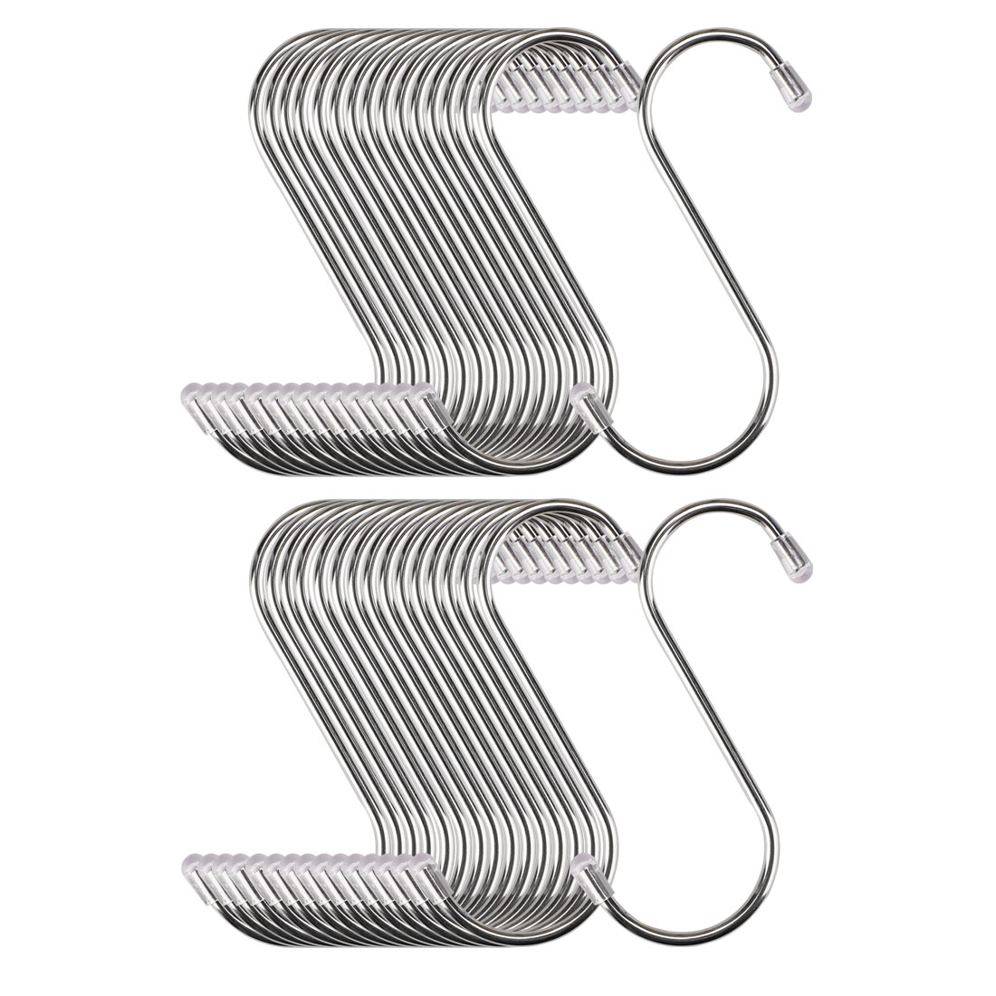 32pcs 3.46 Inch S Shaped Hook Stainless Steel for Kitchenware Hat Coat Holder