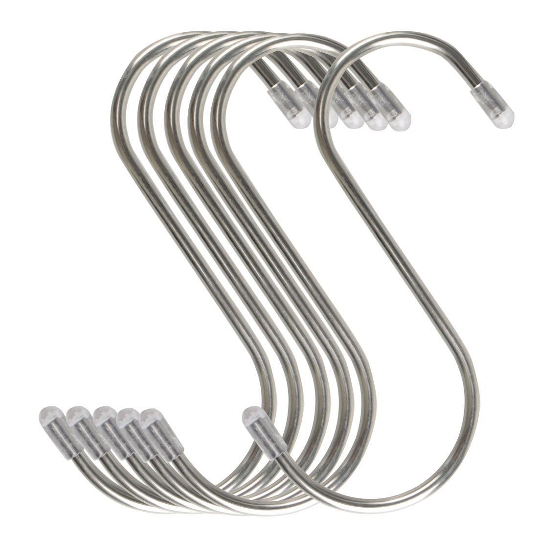 6pcs 4.72 Inch S Shaped Hook Stainless Steel for Kitchenware Hat Coat Holder