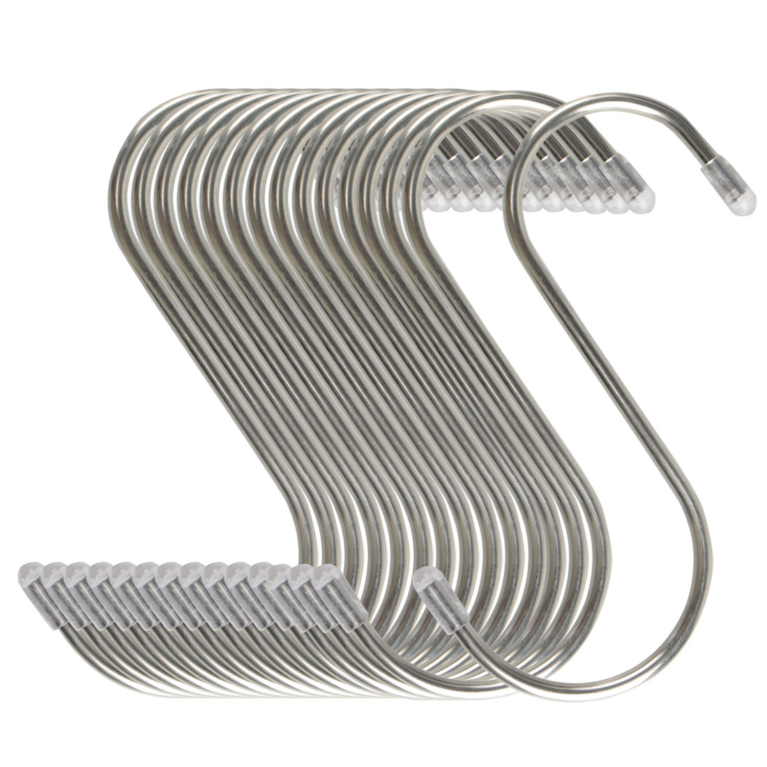 15pcs 4.72 Inch S Shaped Hook Stainless Steel for Kitchenware Hat Coat Holder