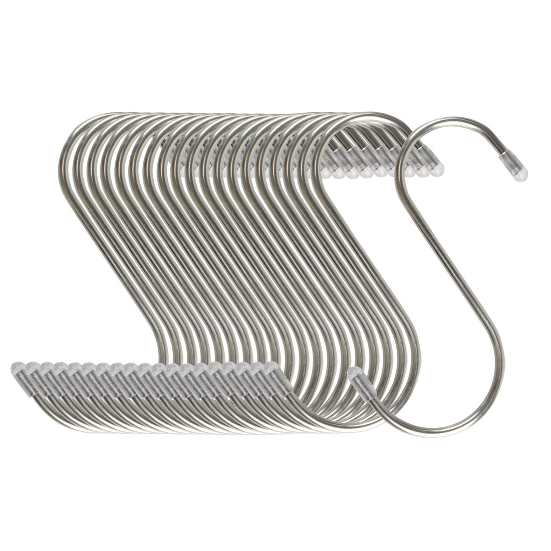 20pcs 4.72 Inch S Shaped Hook Stainless Steel for Kitchenware Hat Coat Holder