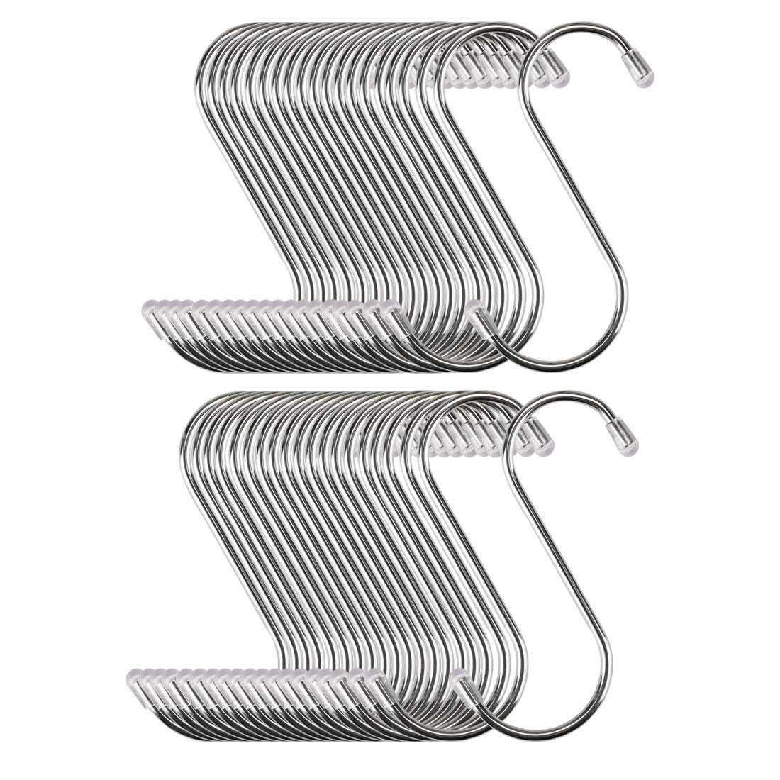S Shape Hook Rack Stainless Steel for Kitchenware Clothes Utensil Holder 40 Pack