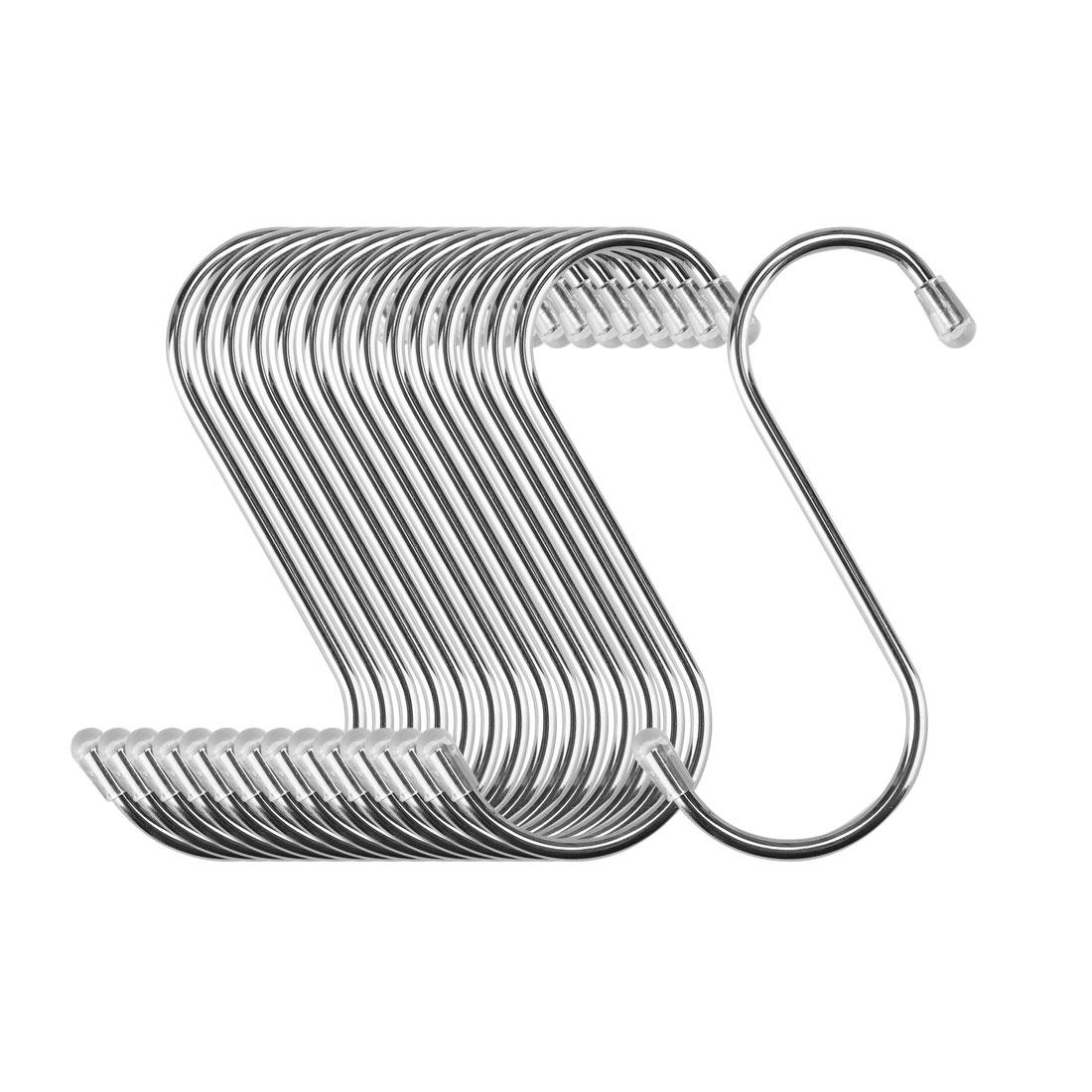 S Shape Hook Rack Stainless Steel for Kitchenware Coat Towels Holder 15 Pack