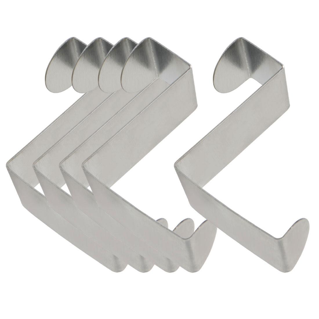 5pcs Z Shaped Hook Stainless Steel for Kitchenware Pot Utensil Coat Holder