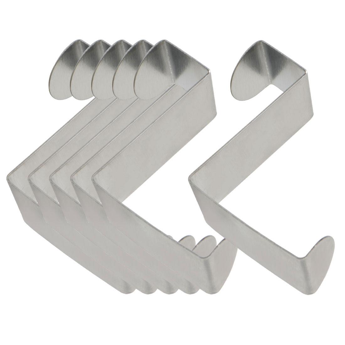 6pcs Z Shaped Hook Stainless Steel for Kitchenware Pot Utensil Coat Holder