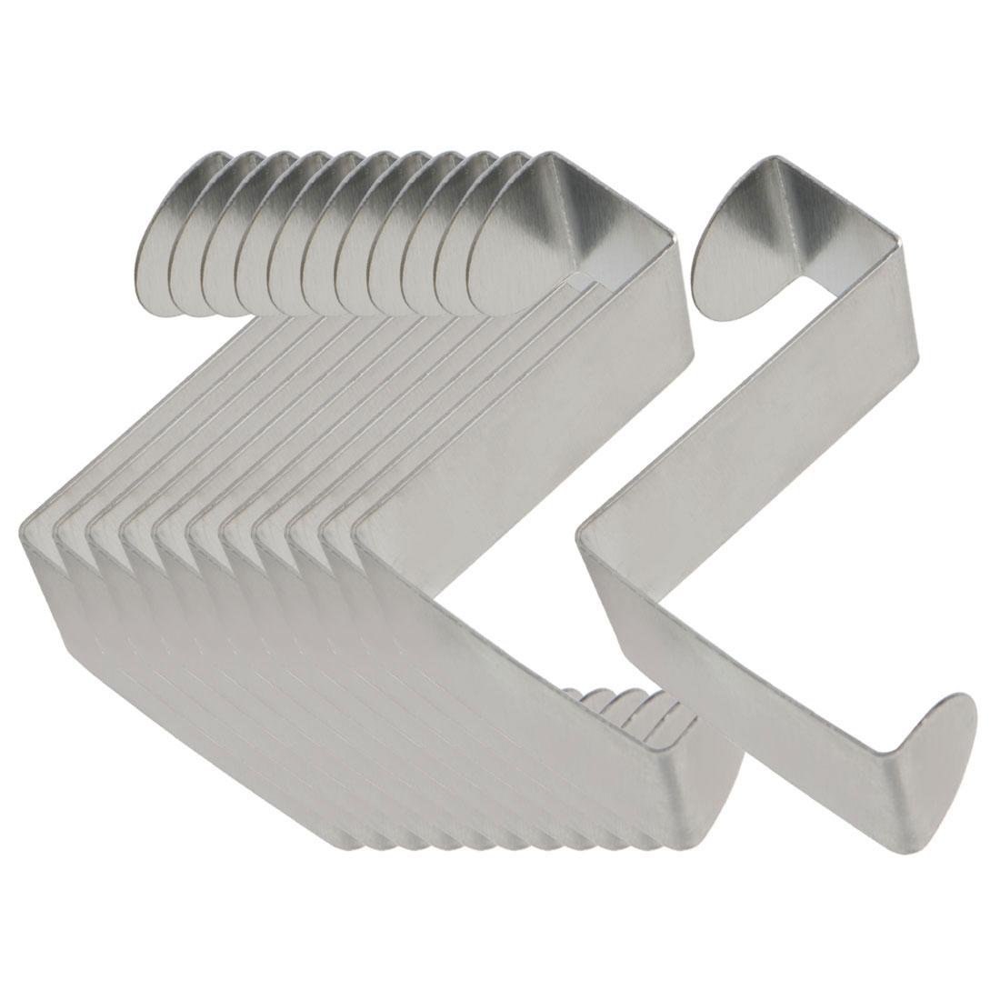 12pcs Z Shaped Hook Stainless Steel for Kitchenware Pot Utensil Coat Holder