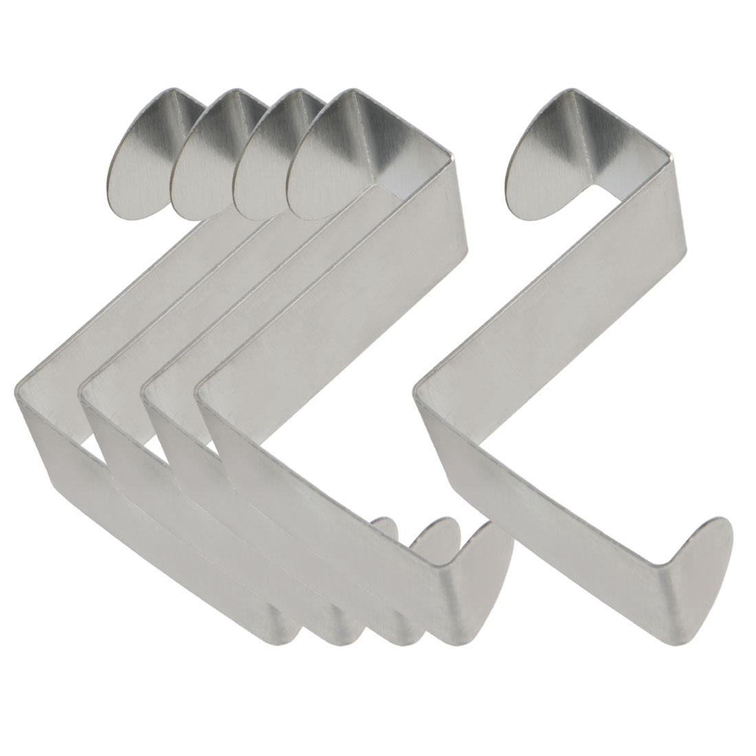 5pcs Z Shaped Hook Stainless Steel for Kitchenware Pot Utensils Coat Holders