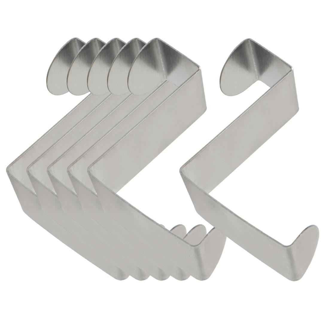 6pcs Z Shaped Hook Stainless Steel for Kitchenware Pot Utensils Coat Holders