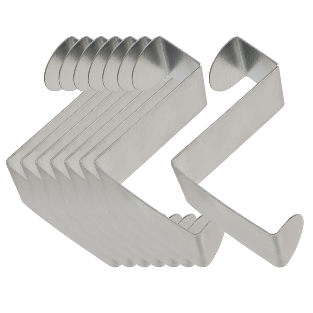 8pcs Z Shaped Hook Stainless Steel for Kitchenware Pot Utensils Coat Holders