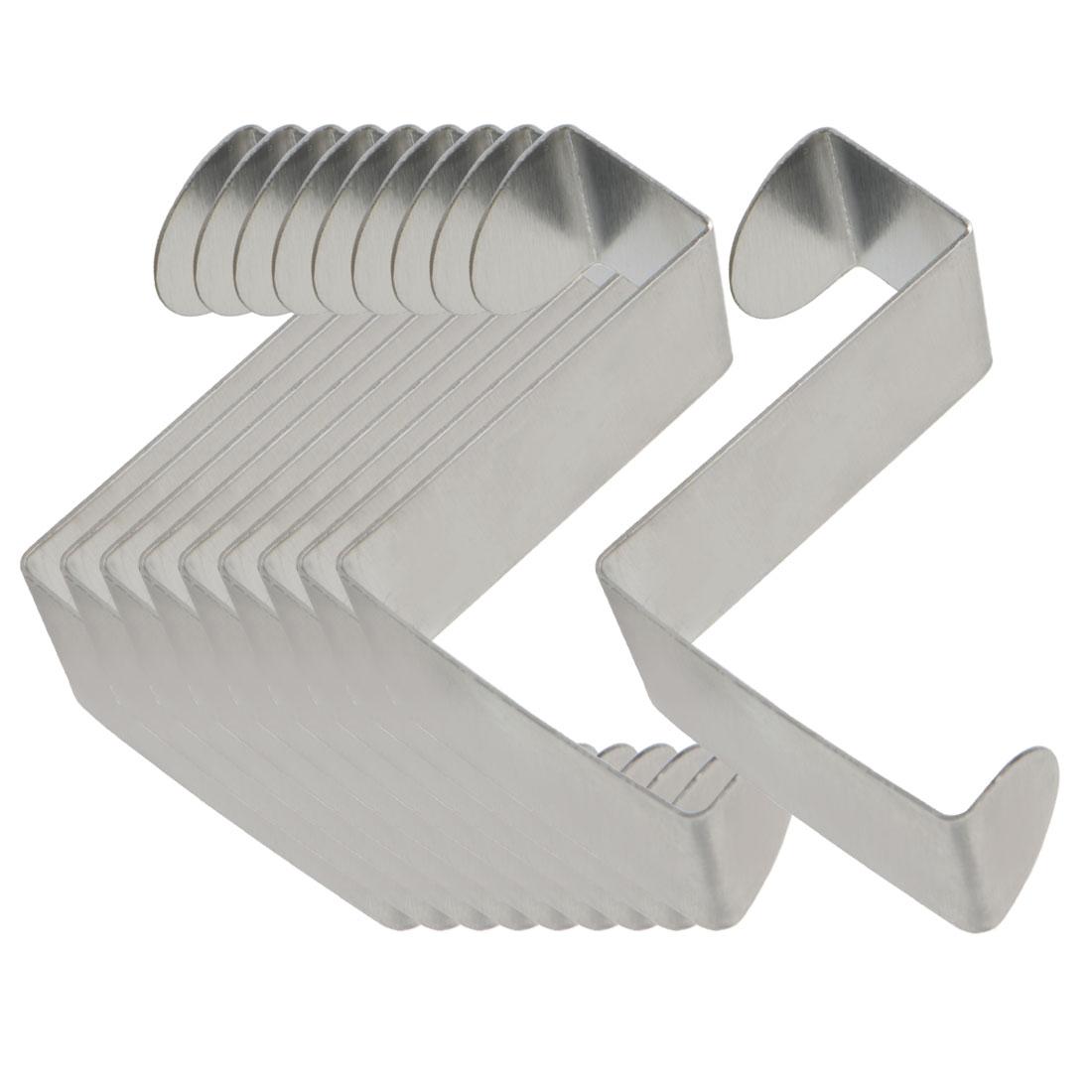 10pcs Z Shaped Hook Stainless Steel for Kitchenware Pot Utensils Coat Holders