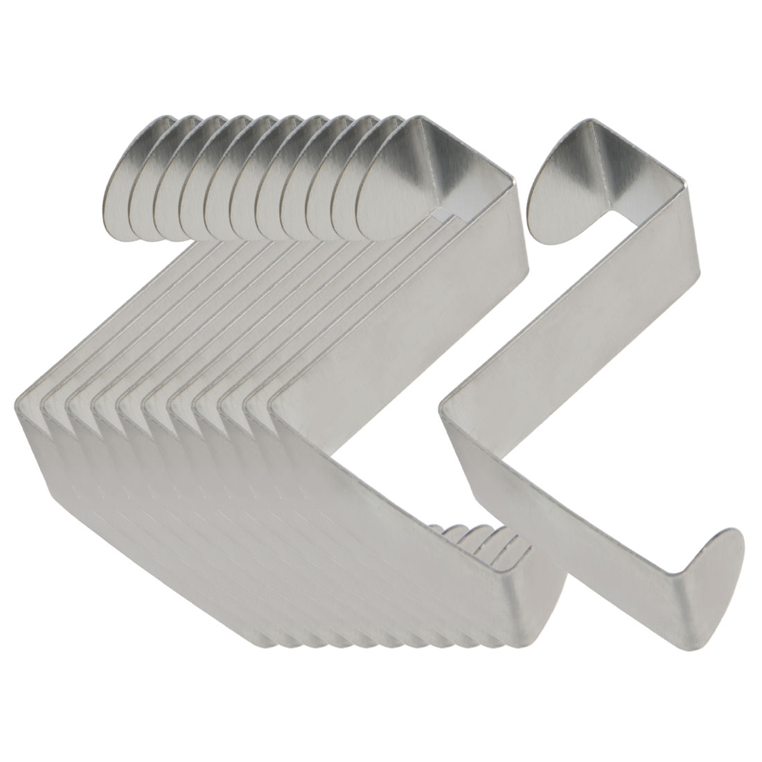 12pcs Z Shaped Hook Stainless Steel for Kitchenware Pot Utensils Coat Holders
