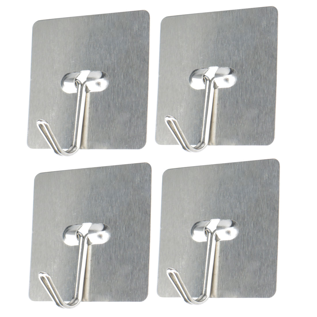 4 Pcs Self Stick Hooks Sticky Wall Door Hook Robe Towel Clothes Hat Coat Hanger