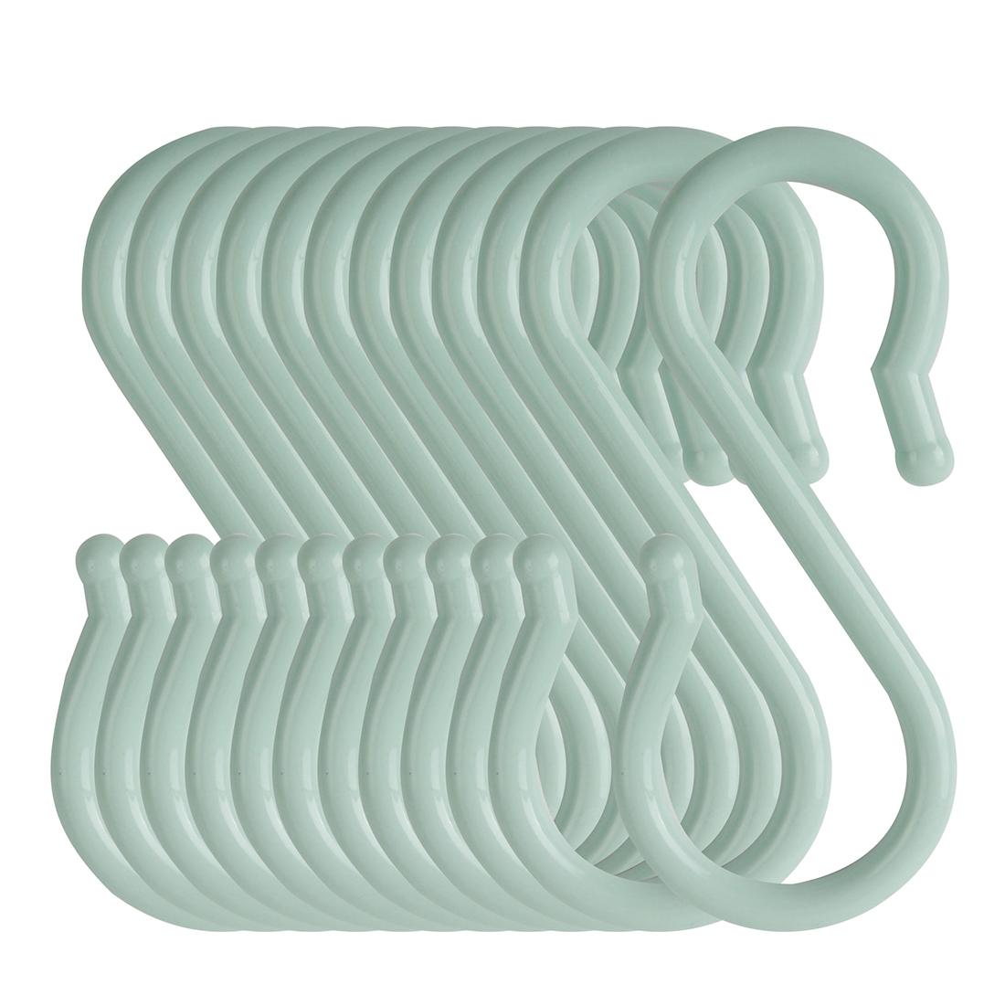 12 Pack S Hook Plastic for Kitchen Utensils Coat Towel Key Hanging Light Blue
