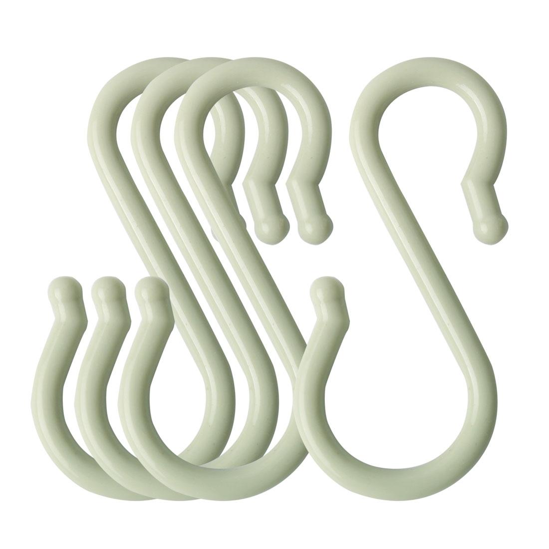 4 Pack S Hook Plastic for Kitchen Pots Utensils Coat Towel Hanging Light Green