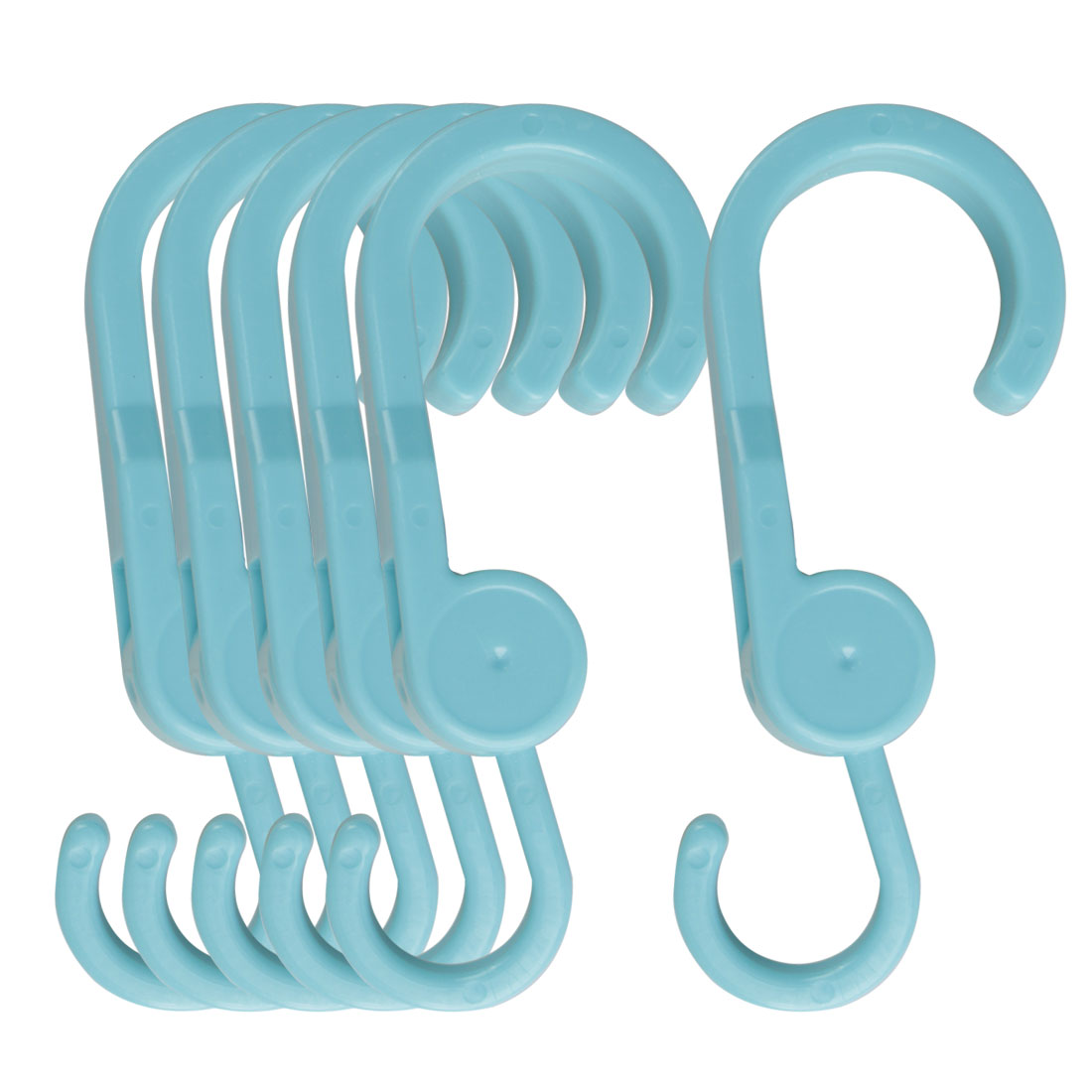 6pcs S Hook Rack ABS Plastic for Kitchenware Pot Utensils Coat Towel Holder Blue