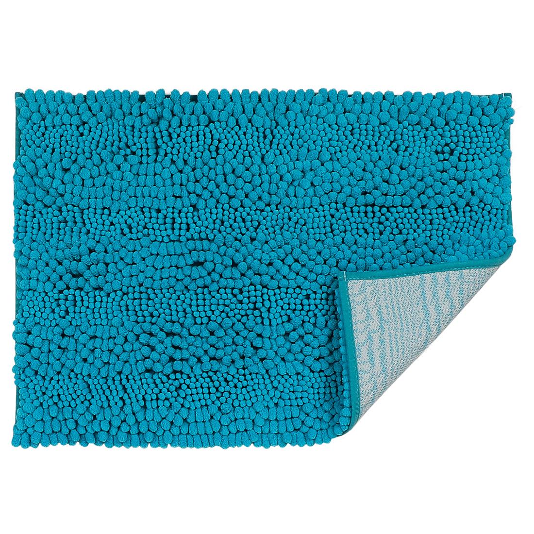17 x 24 Inch Luxury Soft Plush Shaggy Bath Mat Chenille Rug Carpet Blue