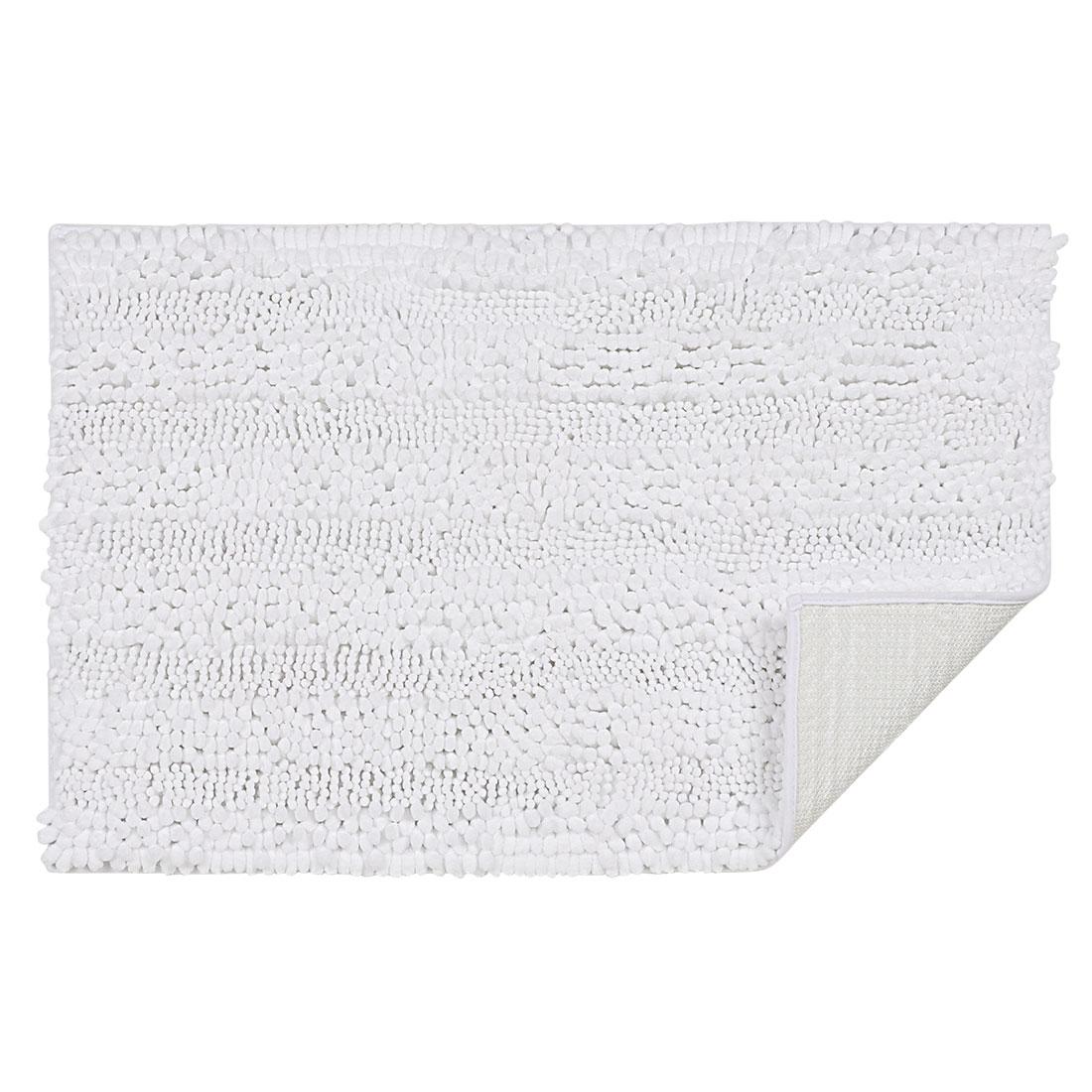 20 x 32 Inch Luxury Soft Plush Shaggy Bath Mat Chenille Rug Carpet White