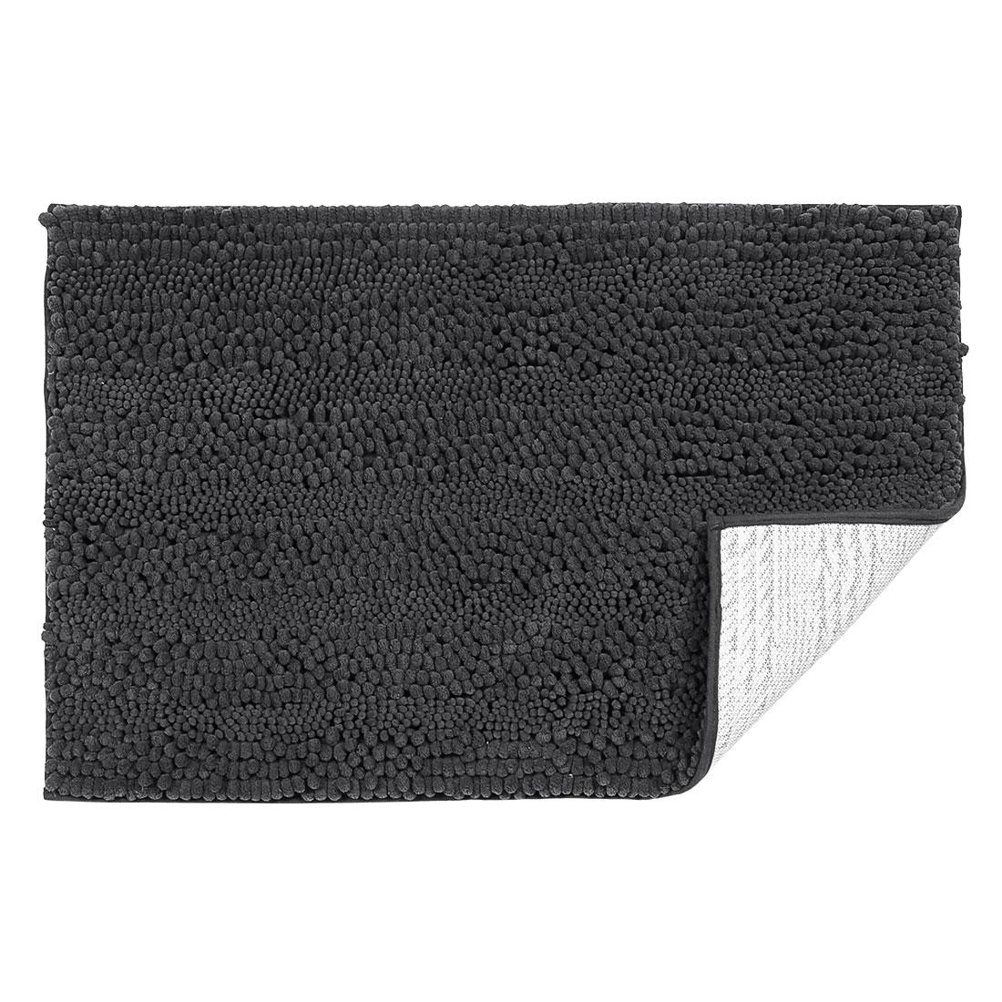 20 x 32 Inch Luxury Soft Plush Shaggy Bath Mat Chenille Rug Carpet Dark Gray