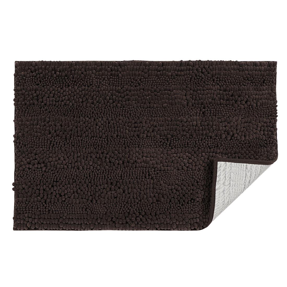 20 x 32 Inch Luxury Soft Plush Shaggy Bath Mat Chenille Rug Carpet Coffee Color