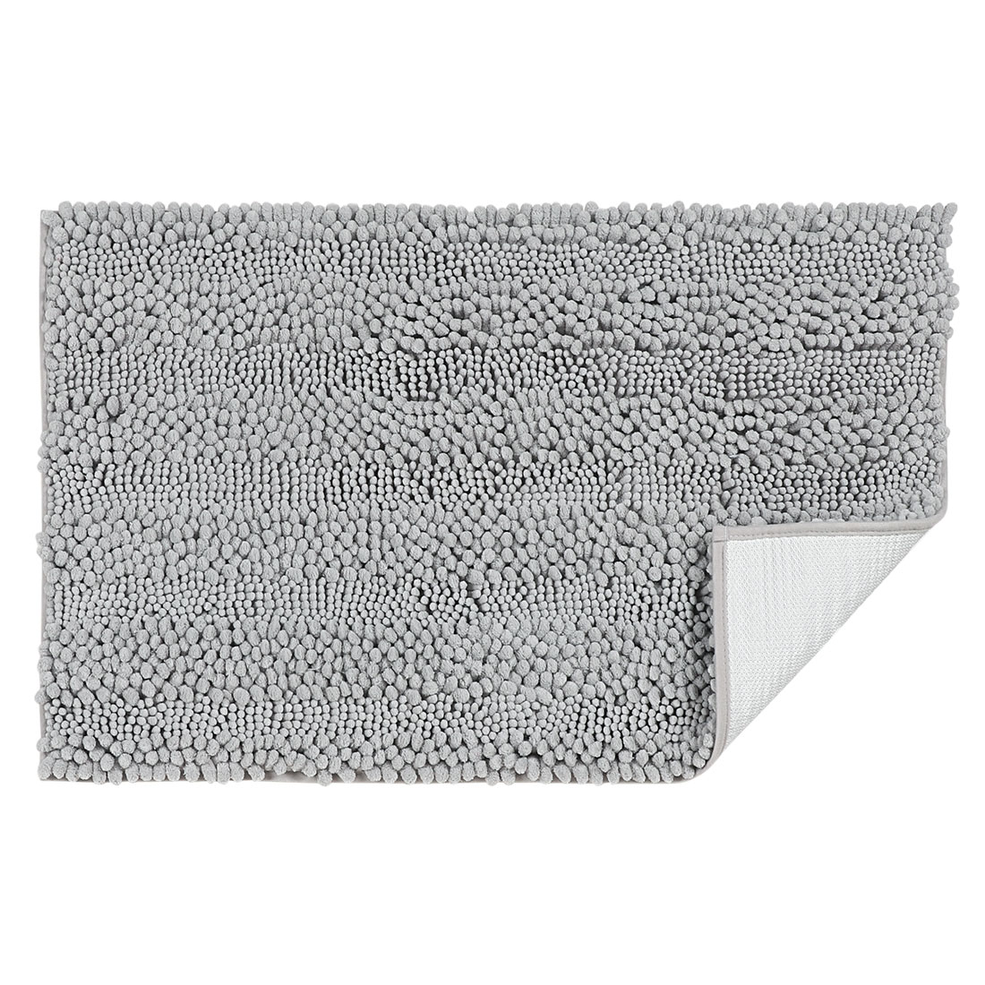 20 x 32 Inch Luxury Soft Plush Shaggy Bath Mat Chenille Rug Carpet Light Gray