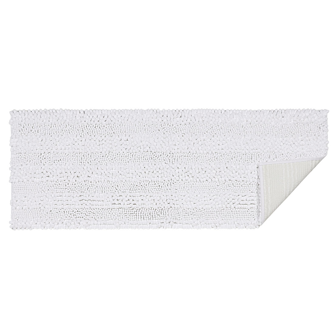 17 x 47 Inch Luxury Soft Plush Shaggy Bath Mat Chenille Rug Carpet White