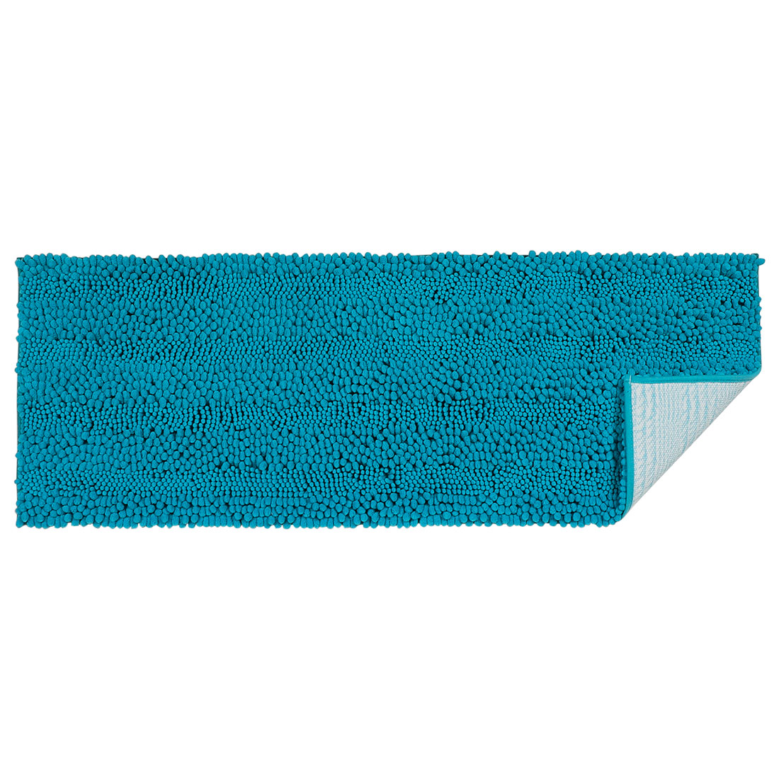 17 x 47 Inch Luxury Soft Plush Shaggy Bath Mat Chenille Rug Carpet Blue