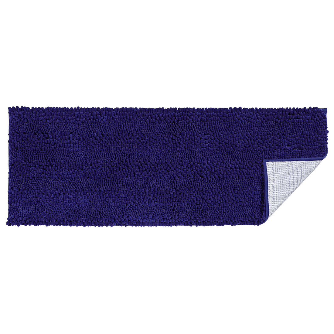 17 x 47 Inch Luxury Soft Plush Shaggy Bath Mat Chenille Rug Carpet Navy Blue