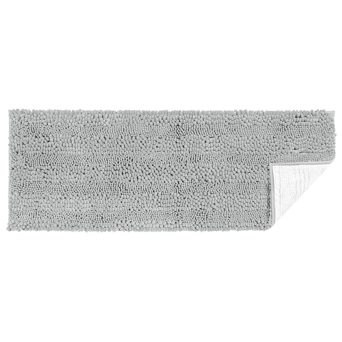 17 x 47 Inch Luxury Soft Plush Shaggy Bath Mat Chenille Rug Carpet Light Gray