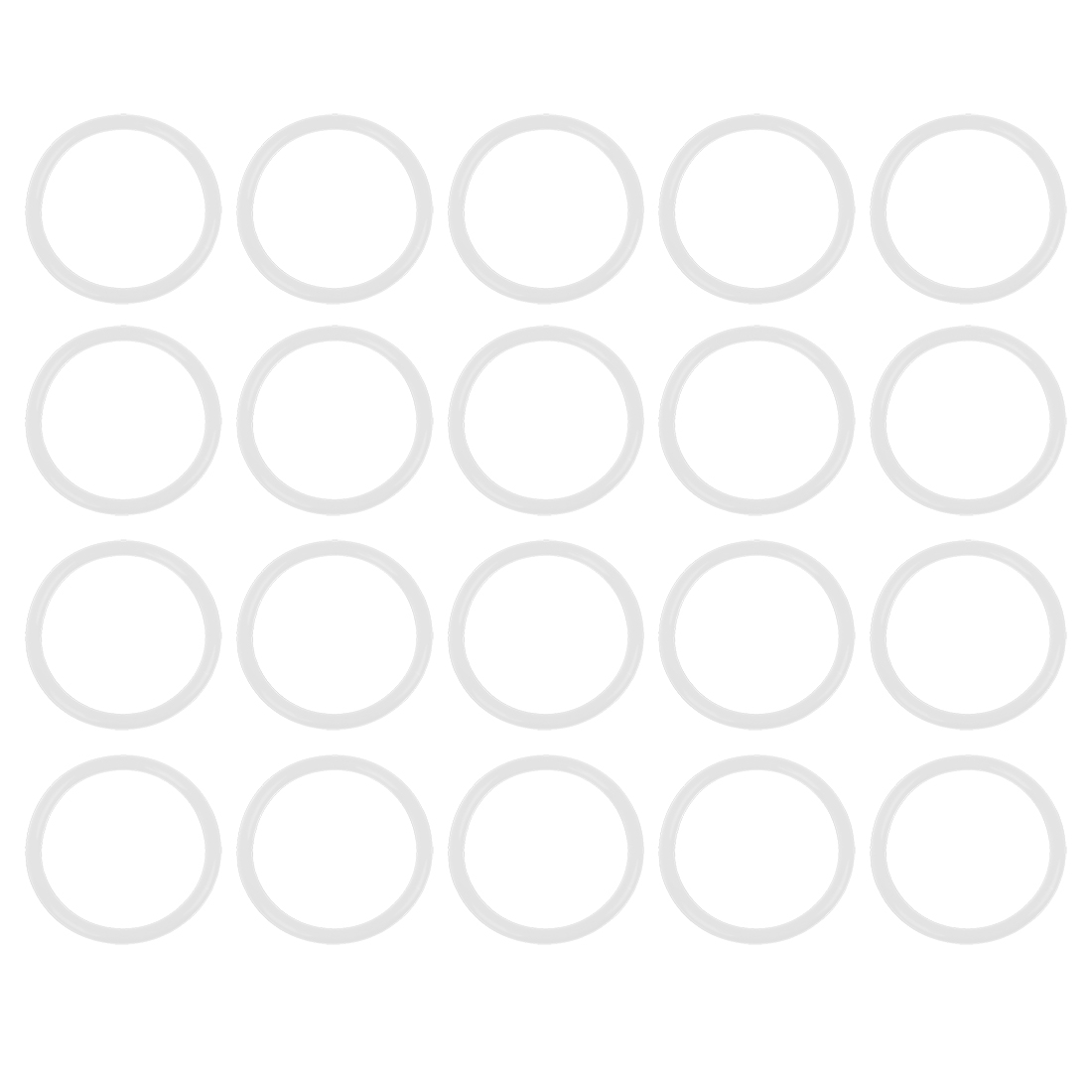 20pcs 45x3.5mm White Universal Silicone O-Ring Sealing Washer Gasket for Car