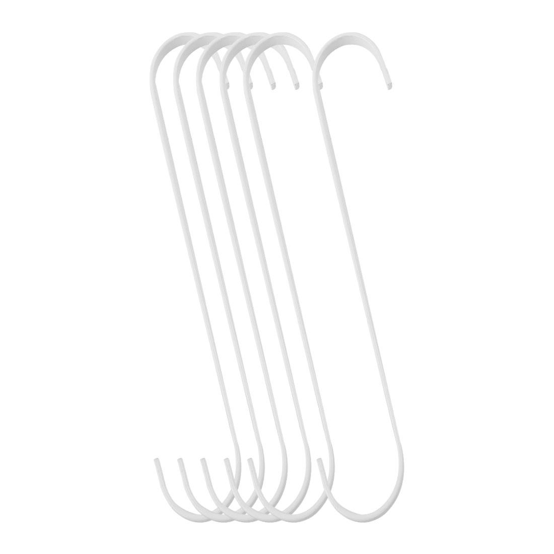6pcs S Shaped Hook Stainless Steel for Kitchenware Pot Utensil Holder White