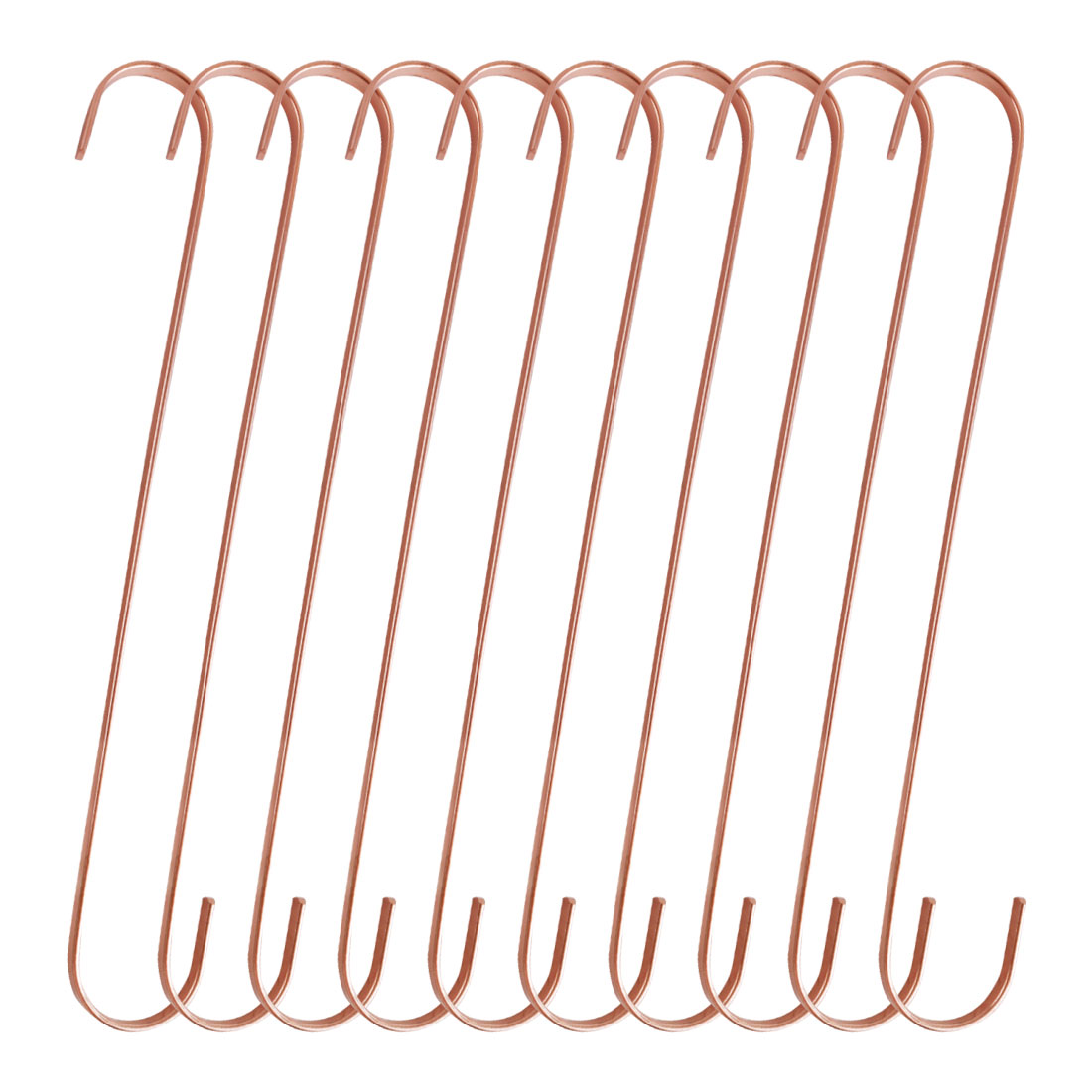 10pcs S Shaped Hook Stainless Steel for Kitchenware Pot Utensil Holder Rose Gold