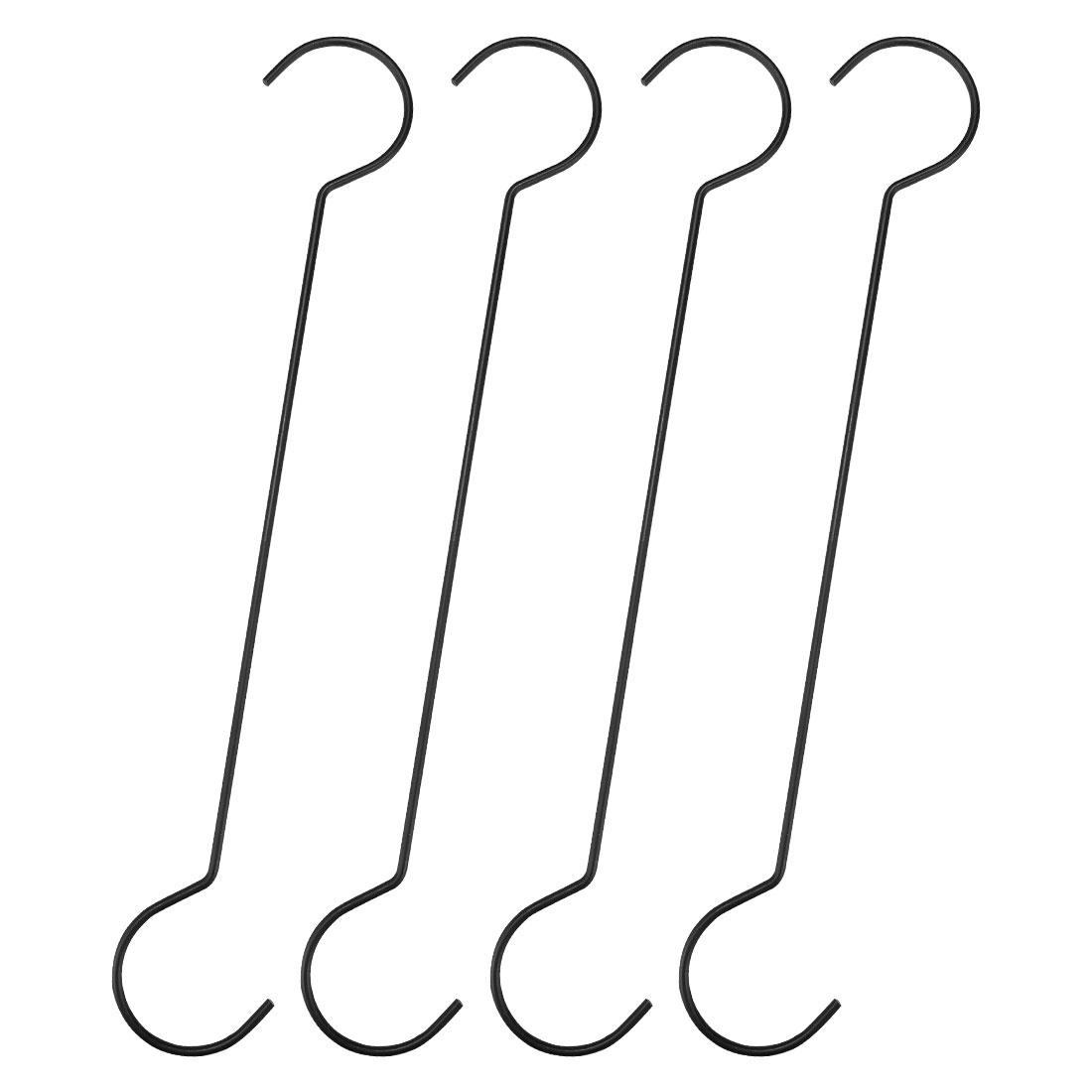 S Shape Hook Rack Metal for Hanging Plants Pots Coat Towel 4 Pack