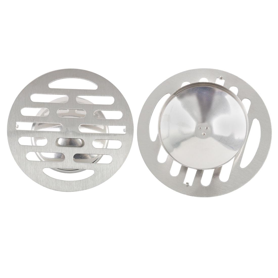"2pcs 4.3"" Floor Drain Cover Hair Catcher Deodorant Sink Filter Bathroom Kitchen"