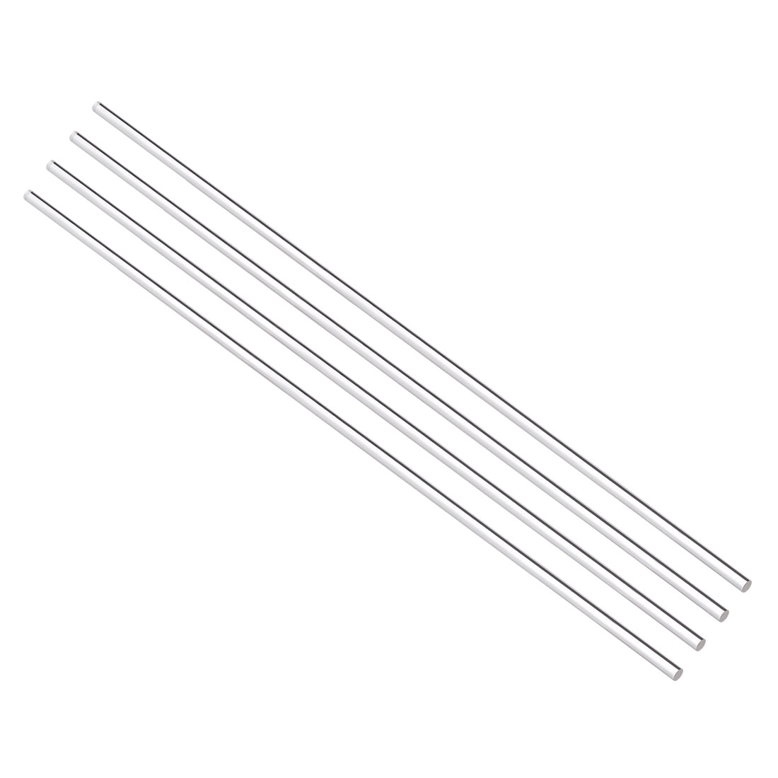 4mmx250mm Round Shape Solid Acrylic Rod PMMA Extruded Bar Clear 4Pcs