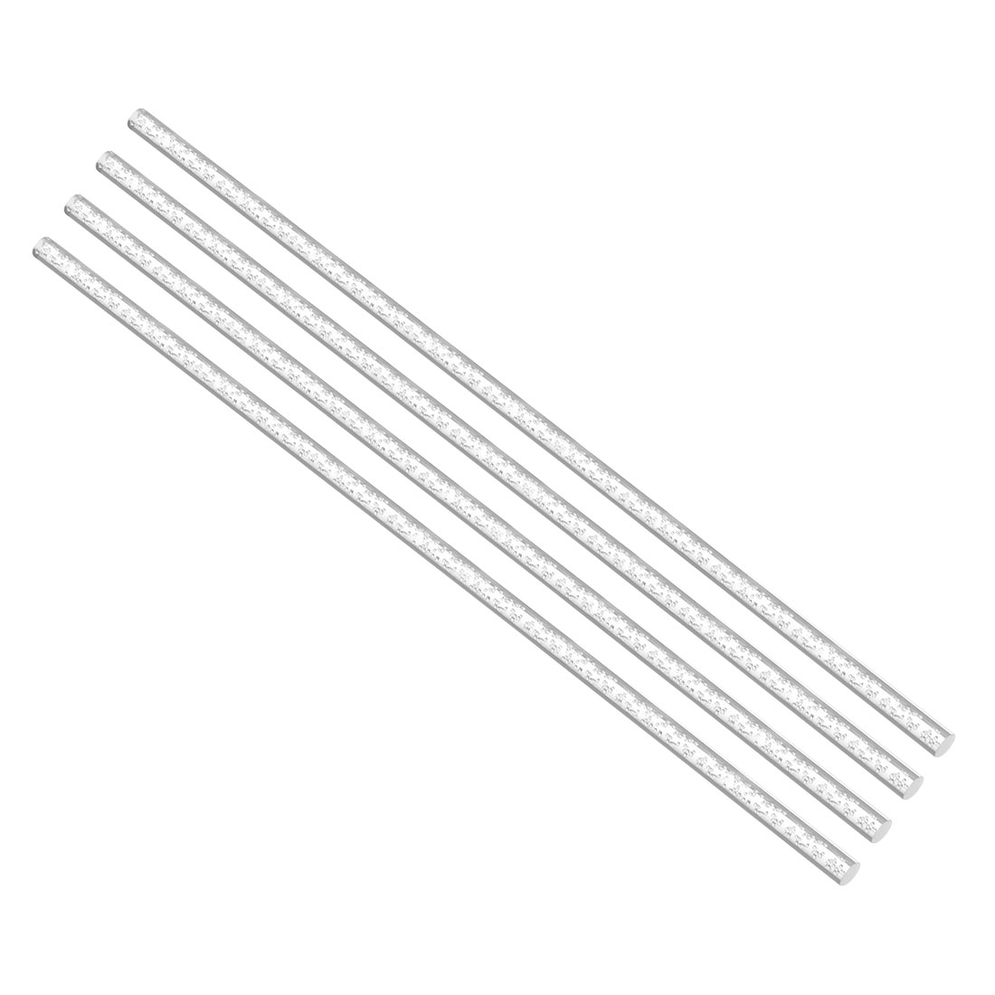 6mmx500mm Clear Round Bubble Solid Acrylic Round Rod PMMA Extruded Bar 4Pcs