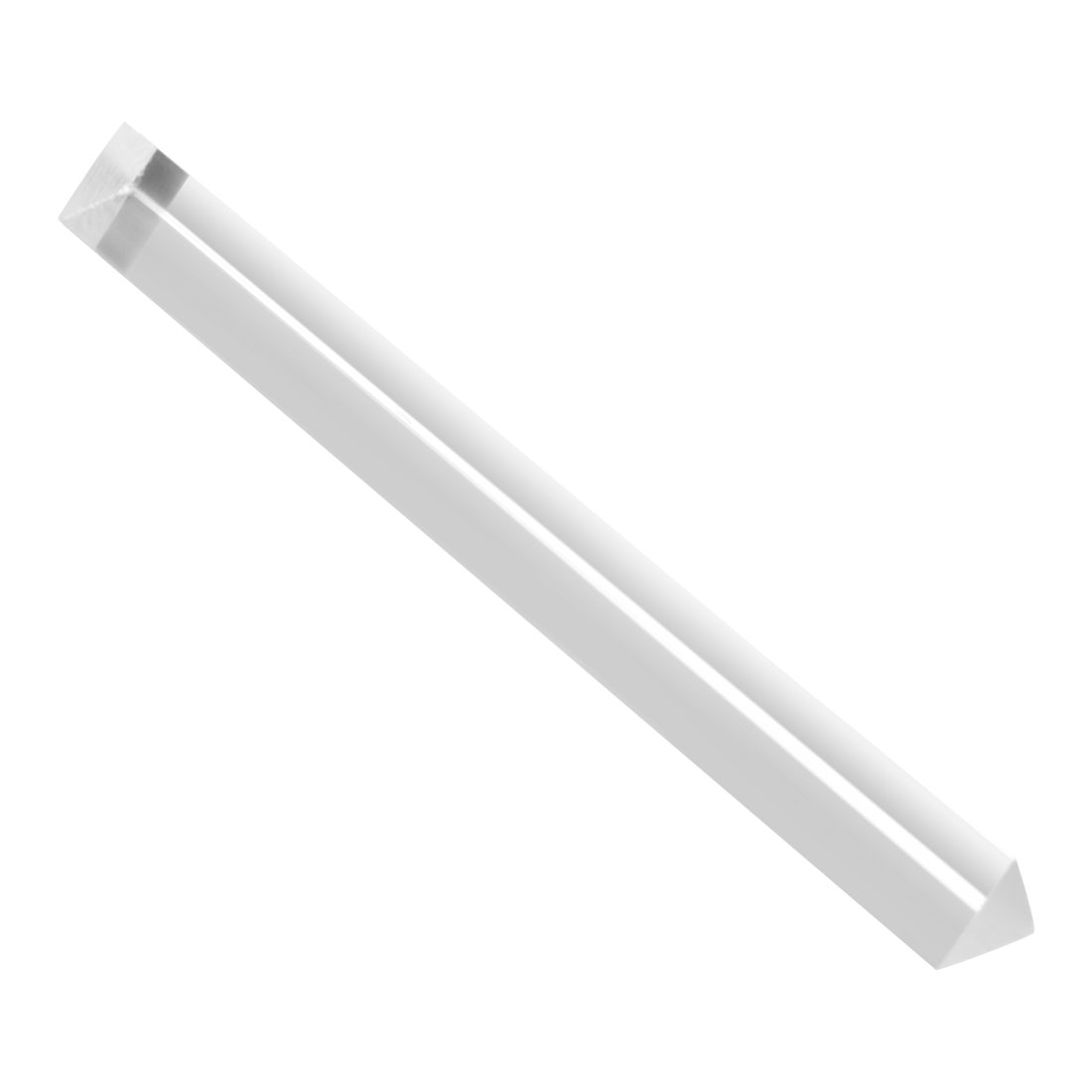 Clear Solid Acrylic Triangle Rod PMMA Extruded Bar 25mmx250mm