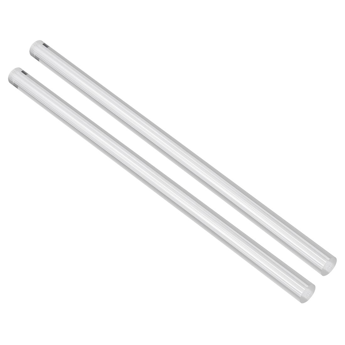 Solid Acrylic Round Rod Straight Light White Line PMMA Bar 12mmx250mm 2Pcs
