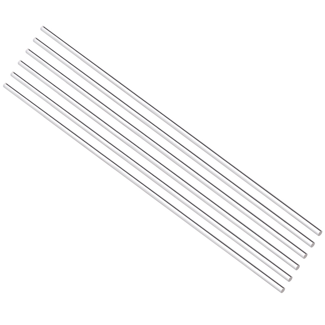 2mmx200mm Round Shape Solid Acrylic Rod PMMA Extruded Bar Clear 6Pcs