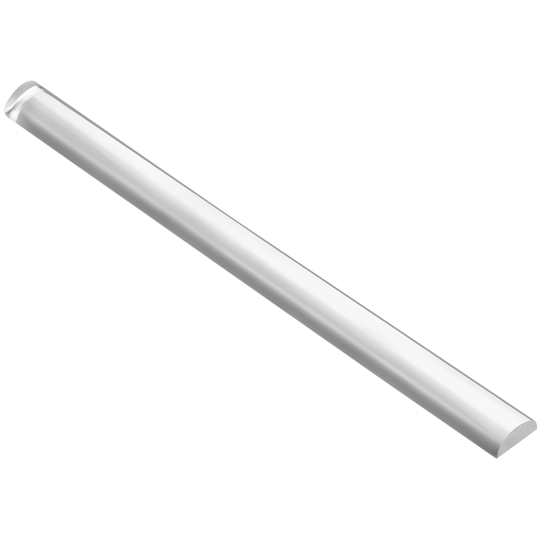 10mmx20mmx250mm Semicircle Shape Solid Acrylic Rod PMMA Extruded Bar Clear
