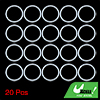 20pcs 45x3.5mm White Universal Silicone O-Ring Sealing Washer Gasket for Car