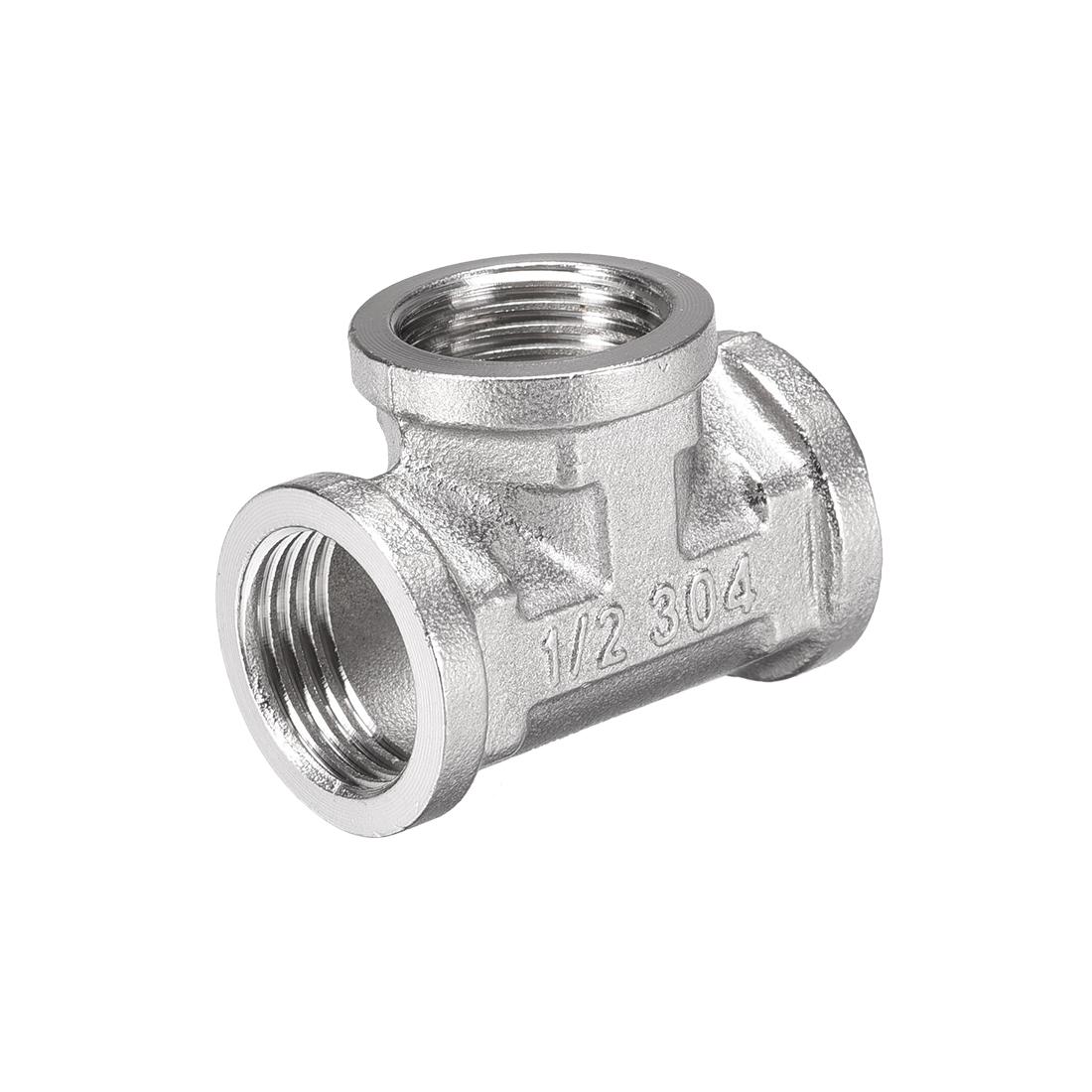 Stainless Steel 304 Cast Pipe Fitting 1/2BSPT Tee Shaped Connector Coupler